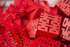 Czerwona chińczyk kopia Szczęsliwa obraz royalty free
