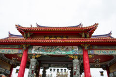 Czerwona chińczyka dachu świątynia Zdjęcie Stock