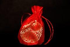Czerwona chińska torba obrazy stock