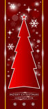 Czerwona choinka Zdjęcie Stock