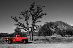 czerwona ciężarówka Zdjęcie Stock