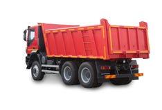 czerwona ciężarówka odseparowana obrazy royalty free