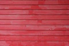 czerwona ściana drewna Fotografia Royalty Free