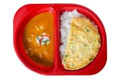 Czerwona curry wieprzowina Obrazy Royalty Free