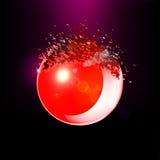 Czerwona 3D piłka wybuchał w kawałki Fotografia Royalty Free