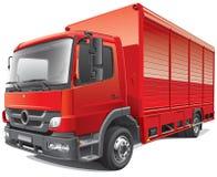 Czerwona doręczeniowa ciężarówka ilustracji