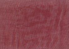 Czerwona drelichowa tekstylna tekstura Obraz Royalty Free