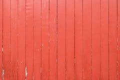 Czerwona drewniana drzwiowa tekstura Zdjęcia Royalty Free