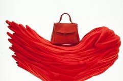 Czerwona Elegancka torba Obraz Stock