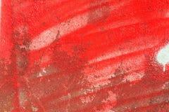Czerwona farba na ścianie Obrazy Stock