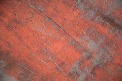 Czerwona farba na Stalowej teksturze zdjęcia royalty free