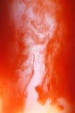 czerwona farba wody. Fotografia Stock