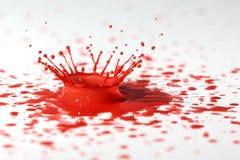 Czerwona farby kropla Fotografia Stock