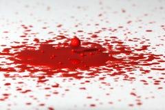 Czerwona farby kropla II Fotografia Stock