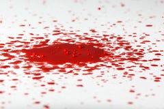 Czerwona farby kropla III Zdjęcie Stock