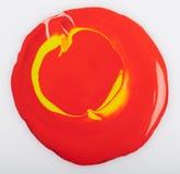Czerwona farby kropla obraz royalty free
