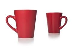 Czerwona filiżanka kawy Obraz Royalty Free