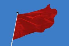 Czerwona flaga Zdjęcia Stock