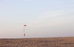 Czerwona flaga Zdjęcie Royalty Free