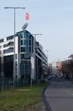 Czerwona flaga SPD przyjęcie Zdjęcia Royalty Free