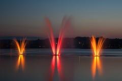 Czerwona fontanna Zdjęcia Stock