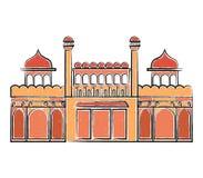 Czerwona fortu Lala Quila ilustracja Zdjęcia Stock