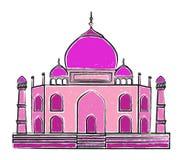 Czerwona fortu Lala Quila wektoru ilustracja Obrazy Royalty Free