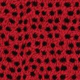 Czerwona futerkowa tekstura z punktami Zdjęcia Stock