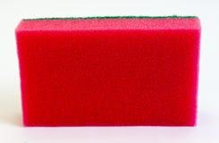 czerwona gąbka Zdjęcia Royalty Free