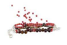 Czerwona gemstone bransoletka Zdjęcie Stock