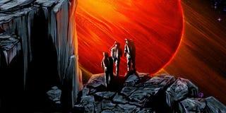 Czerwona gigantyczna planeta Fotografia Royalty Free