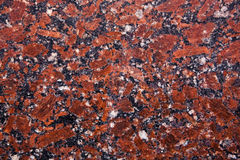 Czerwona granitowa próbka zdjęcia stock
