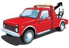 czerwona holownicza ciężarówka Fotografia Royalty Free