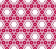 Czerwona i biała sześciokąt tekstura Wektorowy geometryczny heksagonalny bezszwowy wzór ilustracja wektor