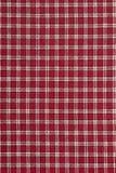 Czerwona i Biała szkocka krata Zdjęcia Royalty Free