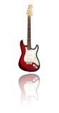 Czerwona i biała gitara Zdjęcia Stock