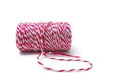 Czerwona i biała linowa rolka Zdjęcie Royalty Free