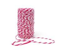 Czerwona i biała linowa rolka Fotografia Royalty Free