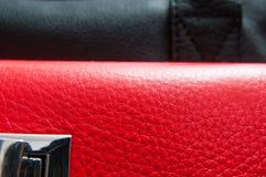 Czerwona i czarna skóra zdjęcia royalty free