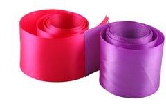 Czerwona i purpurowa sukienna taśma Zdjęcie Stock