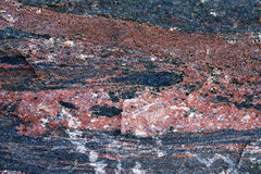 Czerwona i szara granitowa tekstura Obrazy Royalty Free