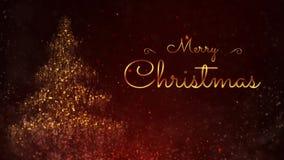 Czerwona Iskrzasta Wesoło bożych narodzeń nowego roku 4K Szczęśliwa pętla zbiory