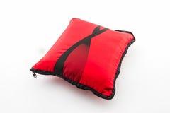 Czerwona jaskrawa poduszka Zdjęcia Royalty Free