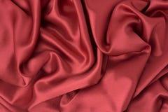 Czerwona jedwabnicza tkanina Zdjęcie Royalty Free