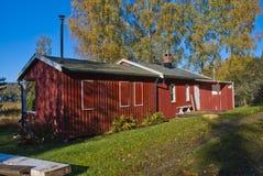 Czerwona kabina zamykająca dla sezonu Fotografia Stock