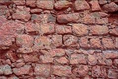 Czerwona Kamienna ściana przy Ibiza Obraz Royalty Free