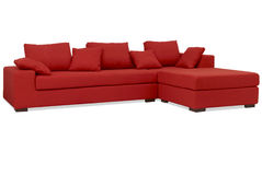 czerwona kanapa Obrazy Stock