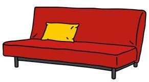 czerwona kanapa royalty ilustracja