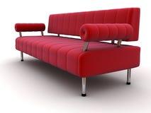 czerwona kanapa Fotografia Royalty Free