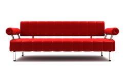 czerwona kanapa Zdjęcie Royalty Free